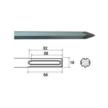 Faithfull SDS Max Point 300mm - FAIMAXP300