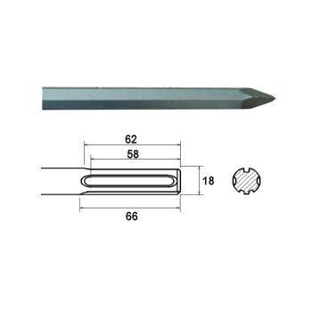 Faithfull SDS Max Point 400mm - FAIMAXP400