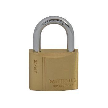 Faithfull Brass Padlock 40mm 3 Keys - FAIPLB40