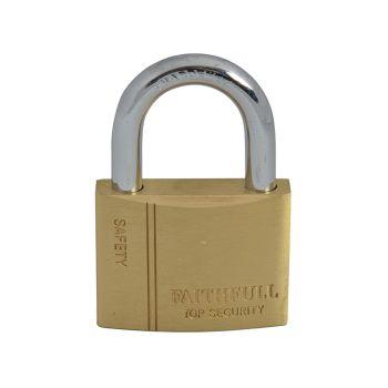 Faithfull Brass Padlock 50mm 3 Keys - FAIPLB50