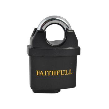 Faithfull PVC Coated Brass Padlock 50mm - FAIPLB50WP