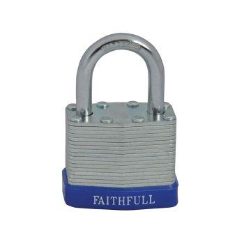 Faithfull Laminated Steel Padlock 40mm 3 Keys - FAIPLLAM40