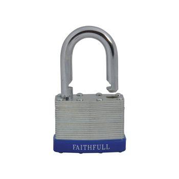 Faithfull Laminated Steel Padlock 50mm 3 Keys - FAIPLLAM50