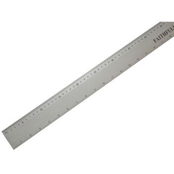 Faithfull Aluminium Rule 1 Metre / 39in - FAIRULE1000