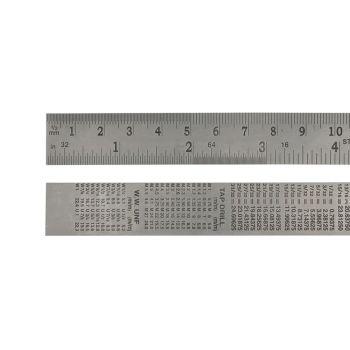 Faithfull Steel Rule 300mm / 12in x 25mm - FAIRULE300SS