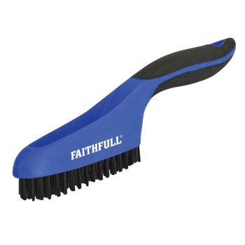 Faithfull Scratch Brush Soft Grip 4 x 16 Row Plastic - FAISB164SP