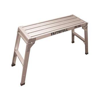 Faithfull Fold Away Step Up Aluminium L100 x H52 x W30cm - FAISTEPUP3