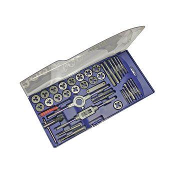 Faithfull Metric Tap & Die Set of 39 Carbon Steel - FAITAPDSET39
