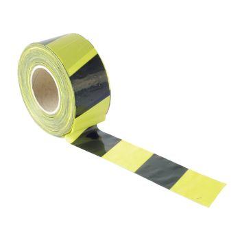 Faithfull Barrier Tape 70mm x 500m Black & Yellow - FAITAPEBARBY