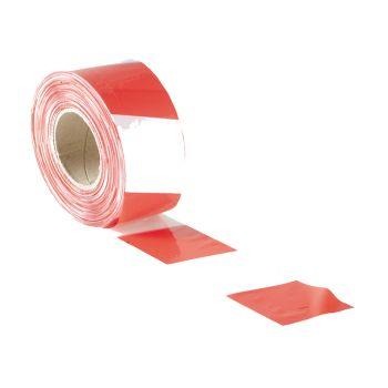 Faithfull Barrier Tape 70mm x 500m Red & White - FAITAPEBARRW