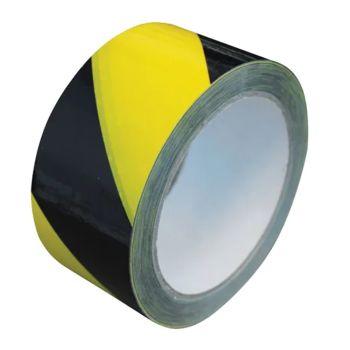 Faithfull Laminated Self-Adhesive Hazard Tape Black/Yellow 50mm x 33m - FAITAPEBYLAM