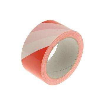 Faithfull Hazard Warning Safety Tape 50mm x 33m Red & White - FAITAPEHAZRW
