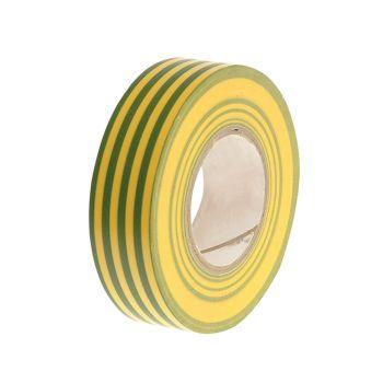 Faithfull PVC Electricial Tape Green / Yellow 19mm x 20m - FAITAPEPVCGY