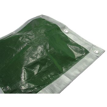Faithfull Tarpaulin Green/ Silver Heavy-Duty 5.4 x 5.4m (18 x 18ft) - FAITARP1818H