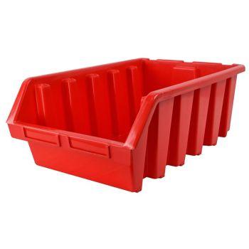 Faithfull Interlocking Storage Bin Size 5 Red 333 x 500 x 187mm - FAITBBIN5