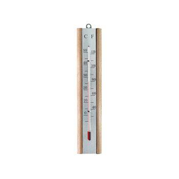 Faithfull Thermometer Wall Beech Silver 200mm - FAITHBEECH