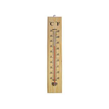 Faithfull Thermometer Wall Wood 400mm - FAITHWOODLG