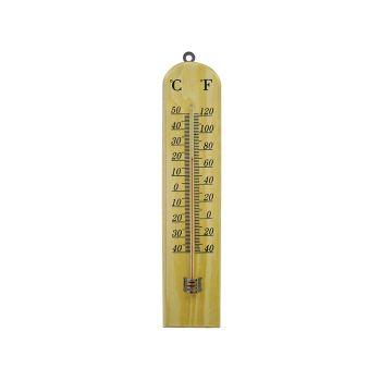 Faithfull Thermometer Wall Wood 260mm - FAITHWOODSM