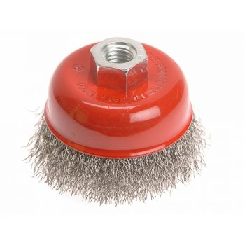 Faithfull Wire Cup Brush 80mm x M14 x 2 Stainless Steel 0.30mm - FAIWBC80S