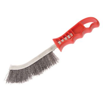 Faithfull Wire Scratch Brush Steel Red Handle - FAIWBHANDS
