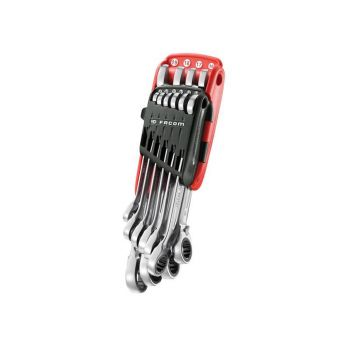 Facom Ratchet Combination Wrench Set, 10 Piece - FCM467BJP10