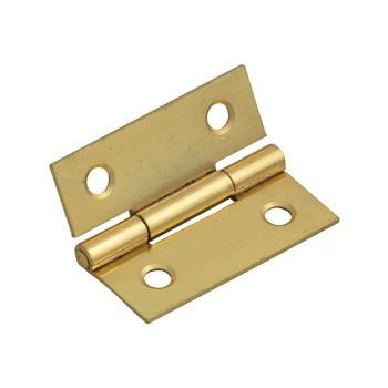 Forge Butt Hinge Brass Finish 40mm (1.5in) Pack of 2 - FGEHNGBTBP40