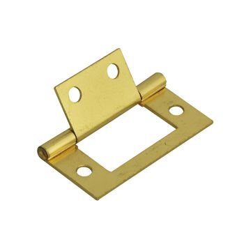 Forge Flush Hinge Brass Finish 50mm (2in) Pack of 2 - FGEHNGFLBP50