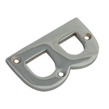 Forge Letter B - Chrome Finish 75mm (3in) - FGENUMBCH75