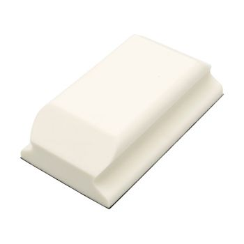 Flexipads World Class Hand Sanding Block Shaped White PUR GRIP 70 x 125mm - FLE93070