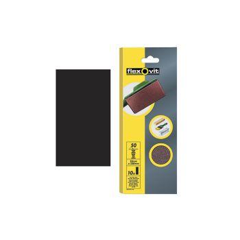 Flexovit 1/2 Sanding Sheets Orbital Plain Fine 120 Grit (Pack of 10) - FLV26328