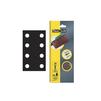 Flexovit 1/3 Sanding Sheets Perforated Fine Grit (Pack of 10) FLV26336 - FLV26336