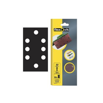 Flexovit 1/3 Sanding Sheets Perforated Fine Grit (Pack of 10) FLV26341 - FLV26341