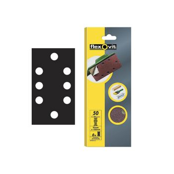 Flexovit 1/3 Sanding Sheets Quick Release Fine Grit (Pack of 6) - FLV26345