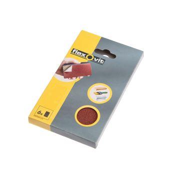 Flexovit Hook & Loop Sanding Block Refill Kit Fine 120g (6) - FLV26349