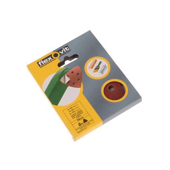 Flexovit Delta Hook & Loop Sanding Sheets 94mm Assorted (Pack 25) - FLV26721