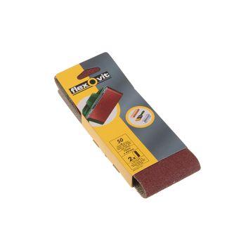 Flexovit Cloth Sanding Belts 75 x 457mm Assorted (Pack of 6) - FLV26784