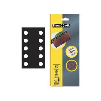 Flexovit 1/2 Sanding Sheets Perforated Fine 120 Grit (Pack of 10) - FLV26500
