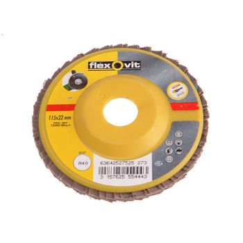 Flexovit Flap Disc For Angle Grinders 125mm 80g - FLV27530