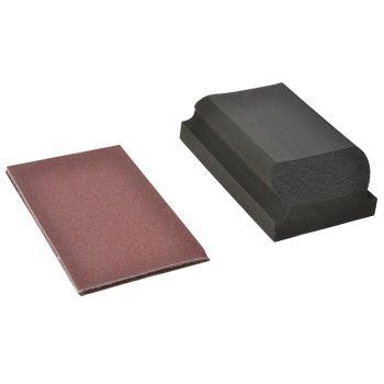 Flexovit Hook & Loop Sanding Block Kit Assorted 70 x 125mm (3) - FLV56830