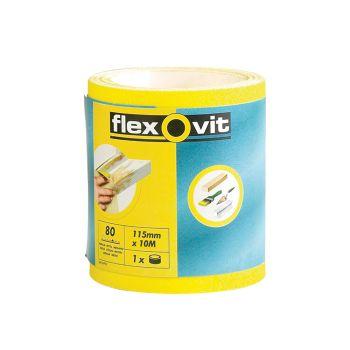 Flexovit High Performance Sanding Roll 115mm x 50m Fine 120g - FLV69923