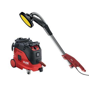 Flex Power Tools GE 5 R+TB-L Giraffe Sander 500W 110V & VCE 33 M AC Vacuum Cleaner 1400W 110V - FLXGE5NRTBL