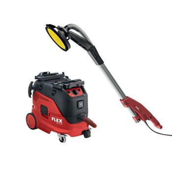 Flex Power Tools GE 5 + TB-L Giraffe Sander 500W 110V & VCE 33 M AC Vacuum Cleaner 1400W 110V - FLXGE5NTBL