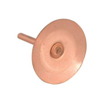 ForgeFix Copper Disc Rivets 20 x 20 x 1.5mm (Pack 100) - FORDISCRIVC