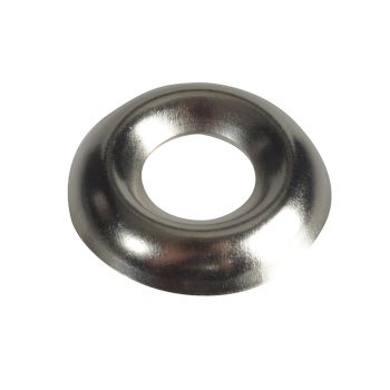 ForgeFix Screw Cup Washers Nickle Plated No.10 Forge Pack 20 - FORFPSCW10N