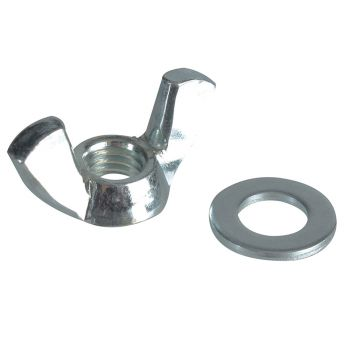 ForgeFix Wing Nut & Washers ZP M8 Forge Pack 8 - FORFPWING8