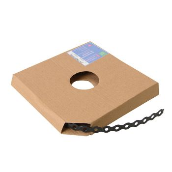 ForgeFix Black Plastic Coated Pre-Galvanised Band 17mm x 0.8 x 10m Box 1 - FORPCBB17