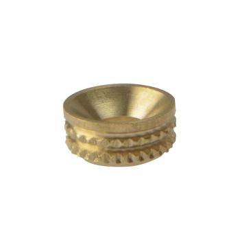 ForgeFix Screw Cup Sockets Solid Brass Polished No. 8 Bag 100 - FORSCS8BM