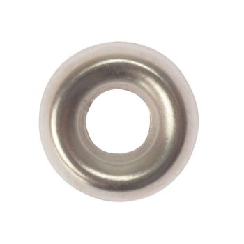 ForgeFix Screw Cup Washers Solid Brass Nickel Plated No.6 Bag 200 - FORSCW6NM