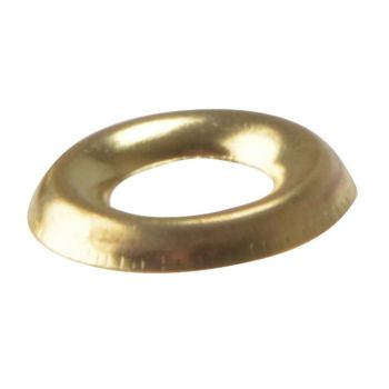 ForgeFix Screw Cup Washers Solid Brass Polished No.8 Bag 200 - FORSCW8BM