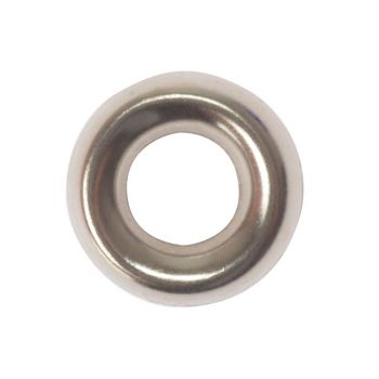 ForgeFix Screw Cup Washers Solid Brass Nickel Plated No.8 Bag 200 - FORSCW8NM